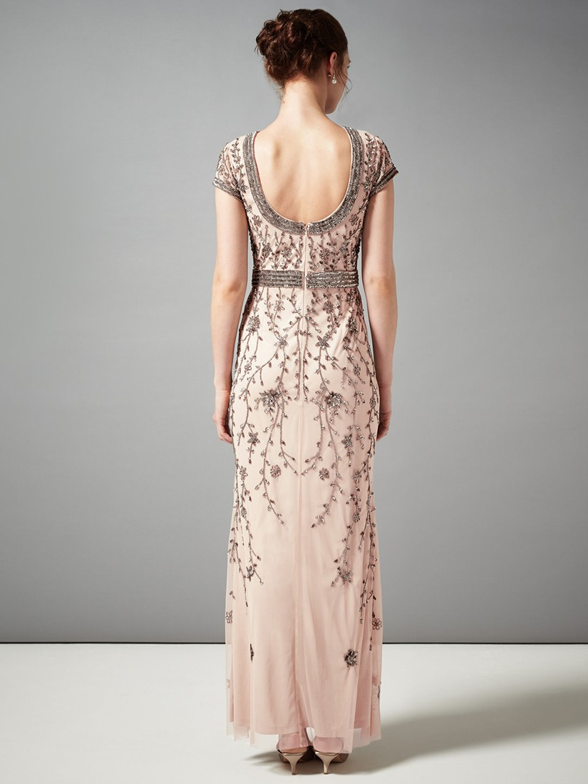 Phase Eight Ursula Embroidered Full Length Dress In