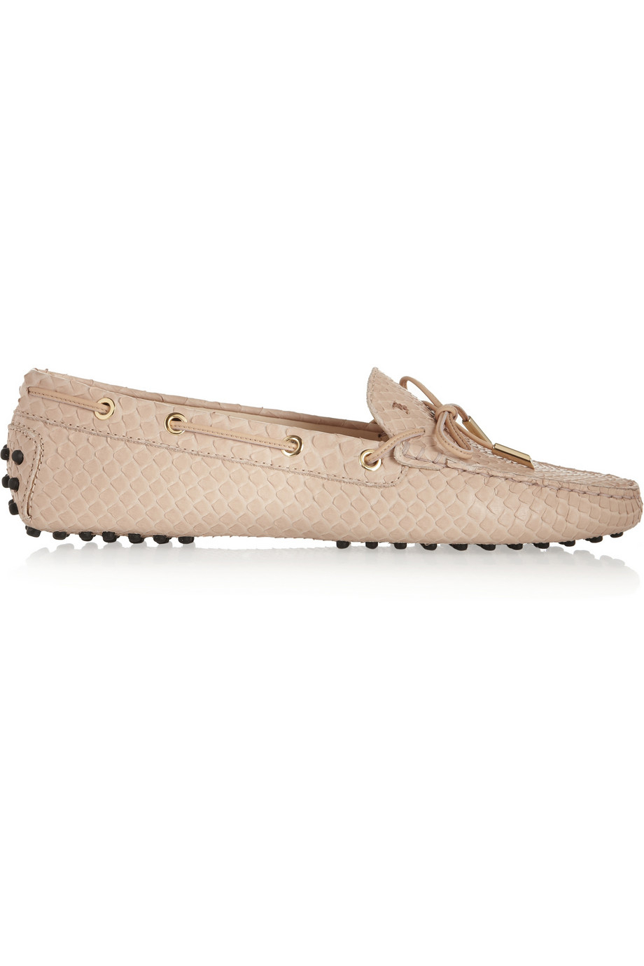 96f0202bcaf Lyst - Tod s Gommino Python Loafers in Pink