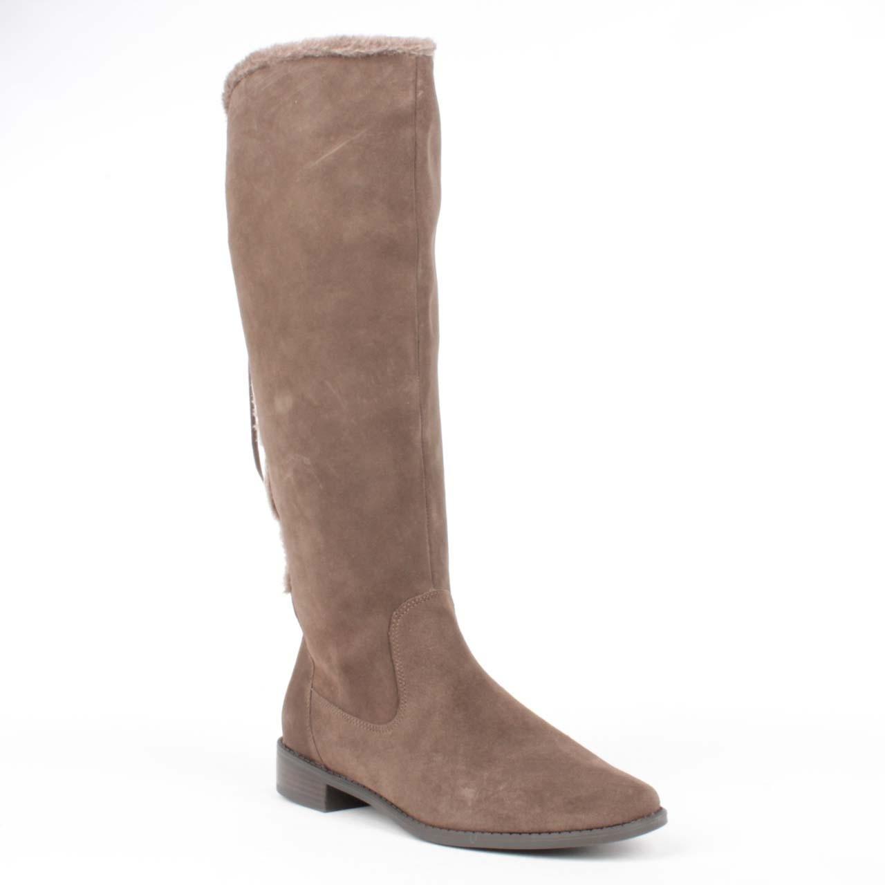 klein ak cognac knee high boot in brown lyst