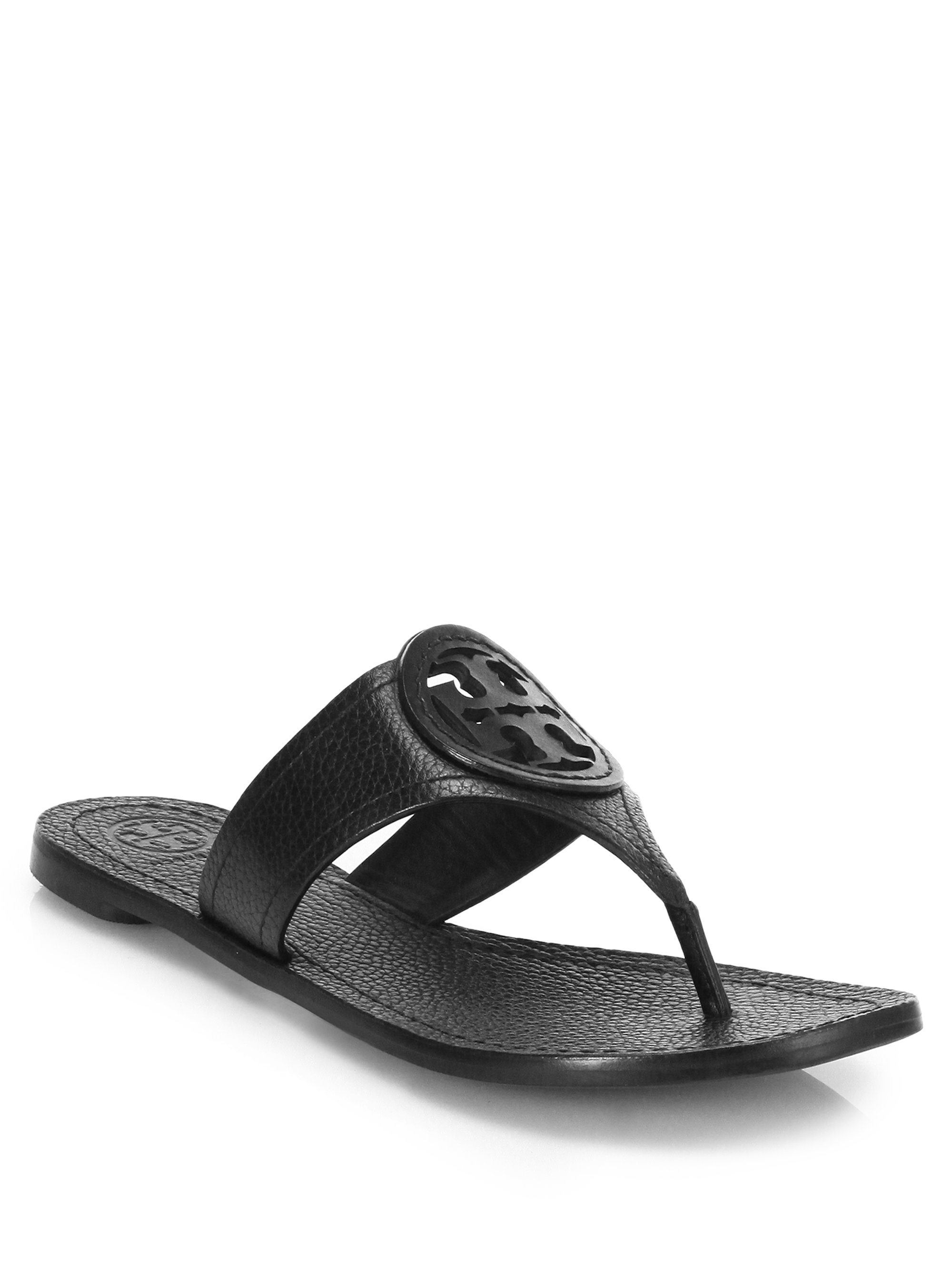 bf223042d Lyst - Tory Burch Louisa Leather Thong Sandal in Black