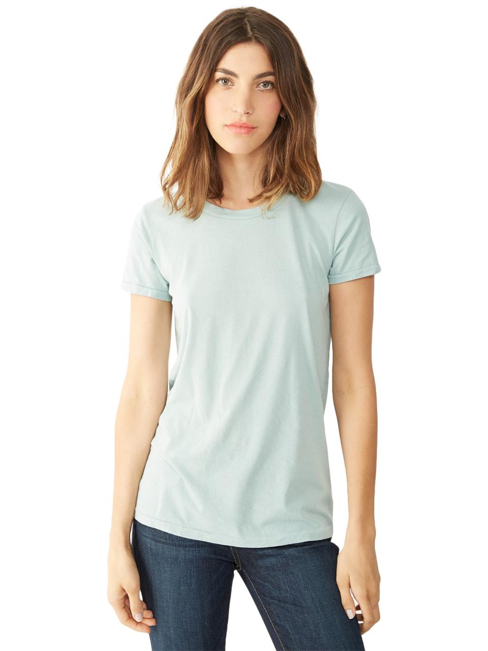 alternative apparel vintage garment dyed crew t shirt in