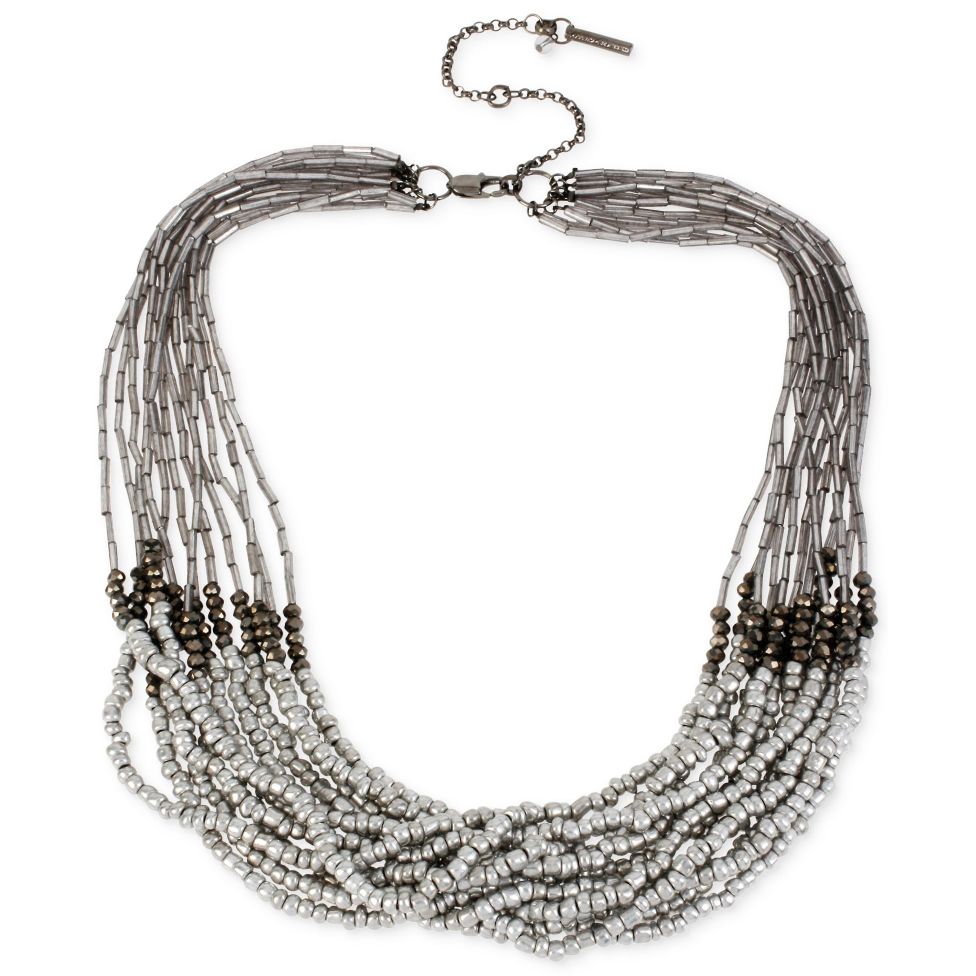 Lyst kenneth cole beaded multi strand necklace in black for Tj maxx jewelry box