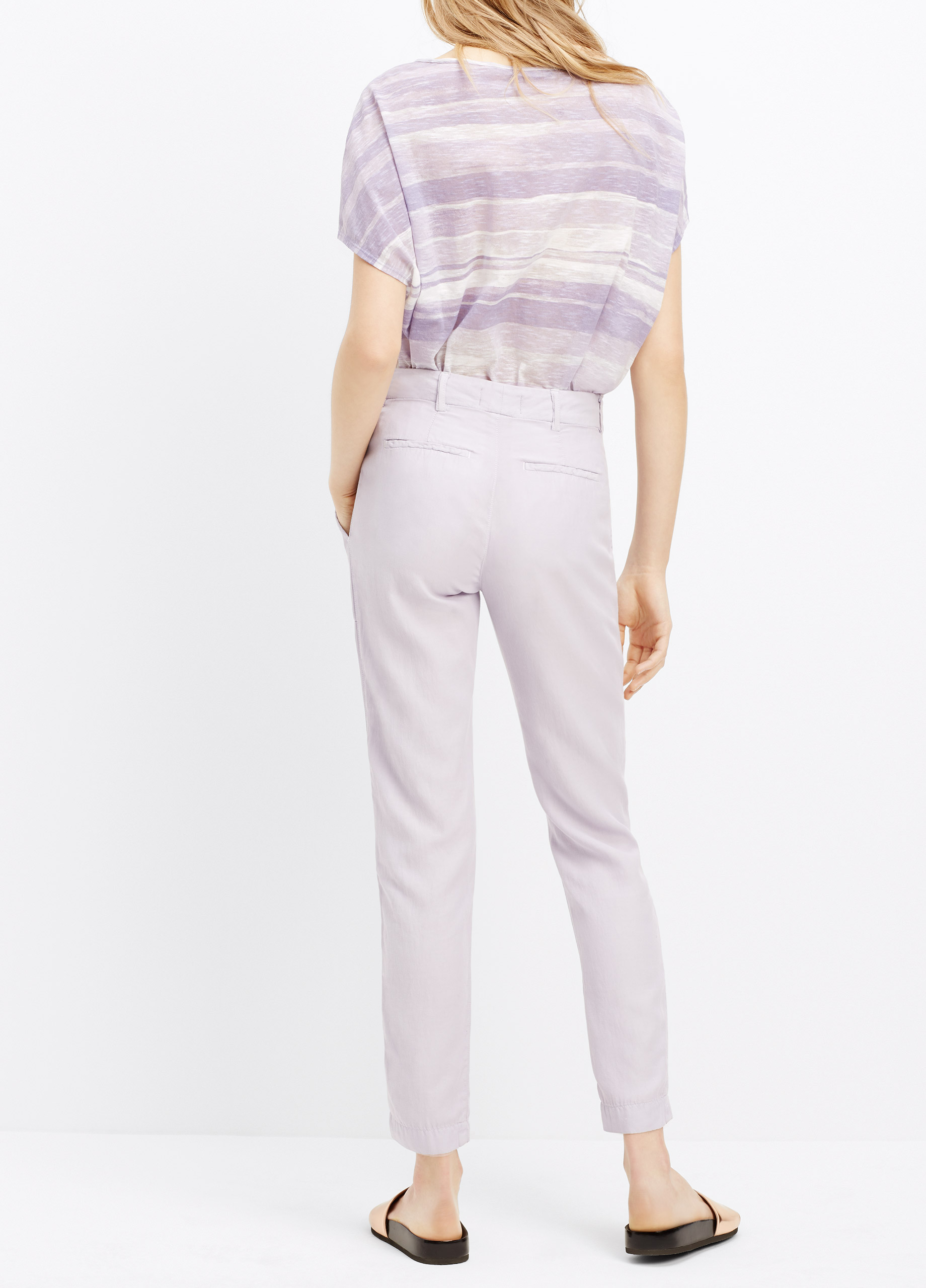 Lyst Vince Washed Twill Patch Pocket Pant In Purple