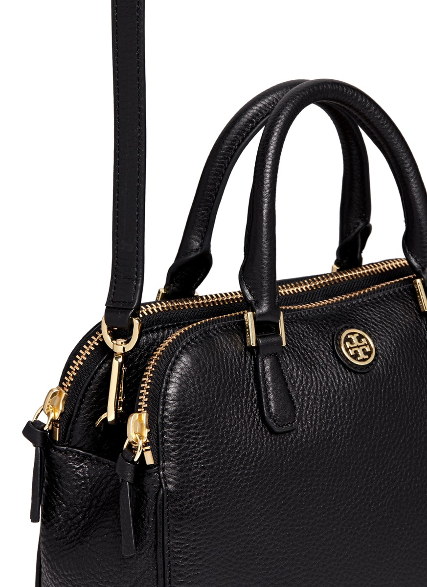 7299047a47a Lyst - Tory Burch  robinson  Small Double Zip Pebbled Leather ...