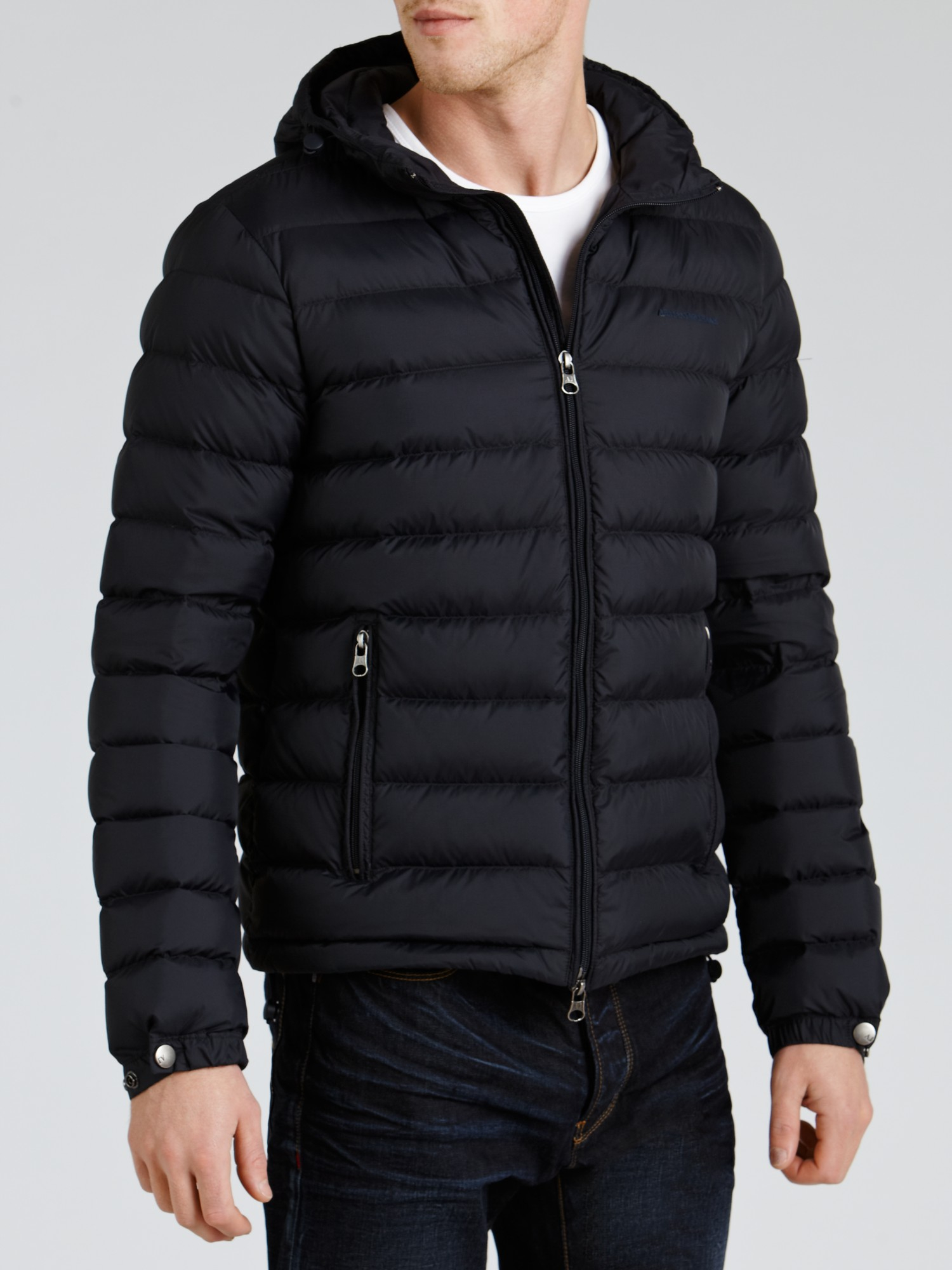 Armani jeans Down Filled Puffer Jacket in Blue for Men