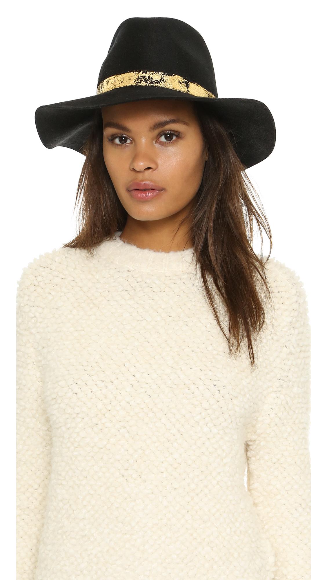734deddf85e50 Eugenia Kim Georgina Hat - Black in Black - Lyst