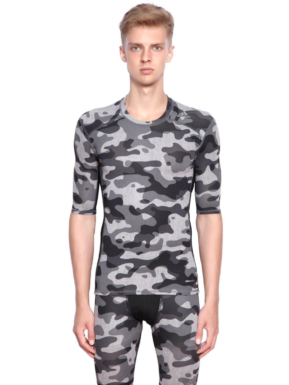 f2b47d5288 Adidas Originals Gray Techfit Training Compression T-shirt for men