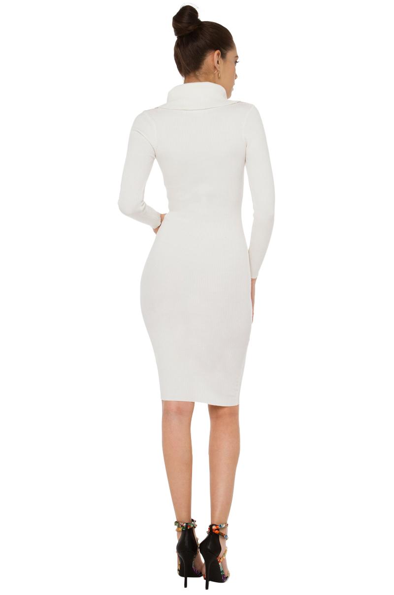 Akira Deep Down Winter White Sweater Dress Lyst