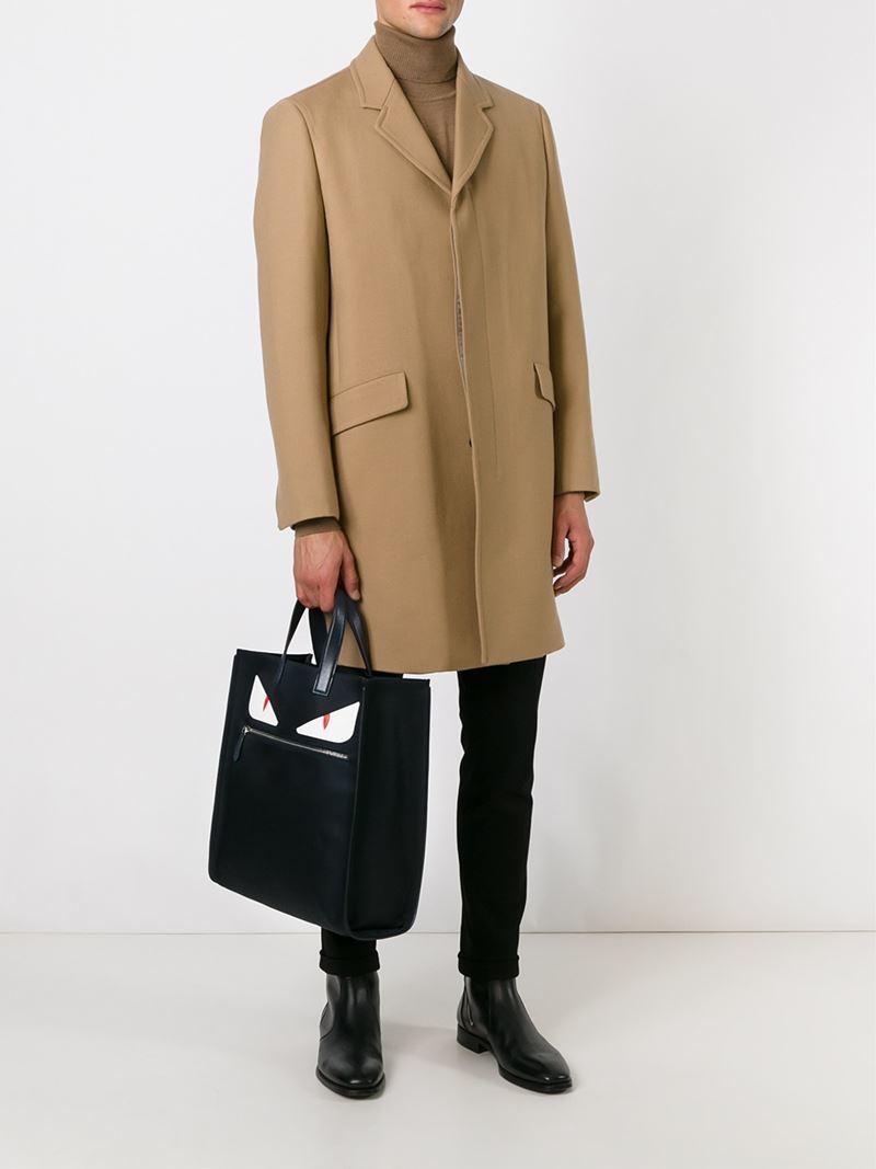 537a7 c3528  new zealand lyst fendi bag bugs shopper tote in black for men  90936 80899 8e52796e7600e