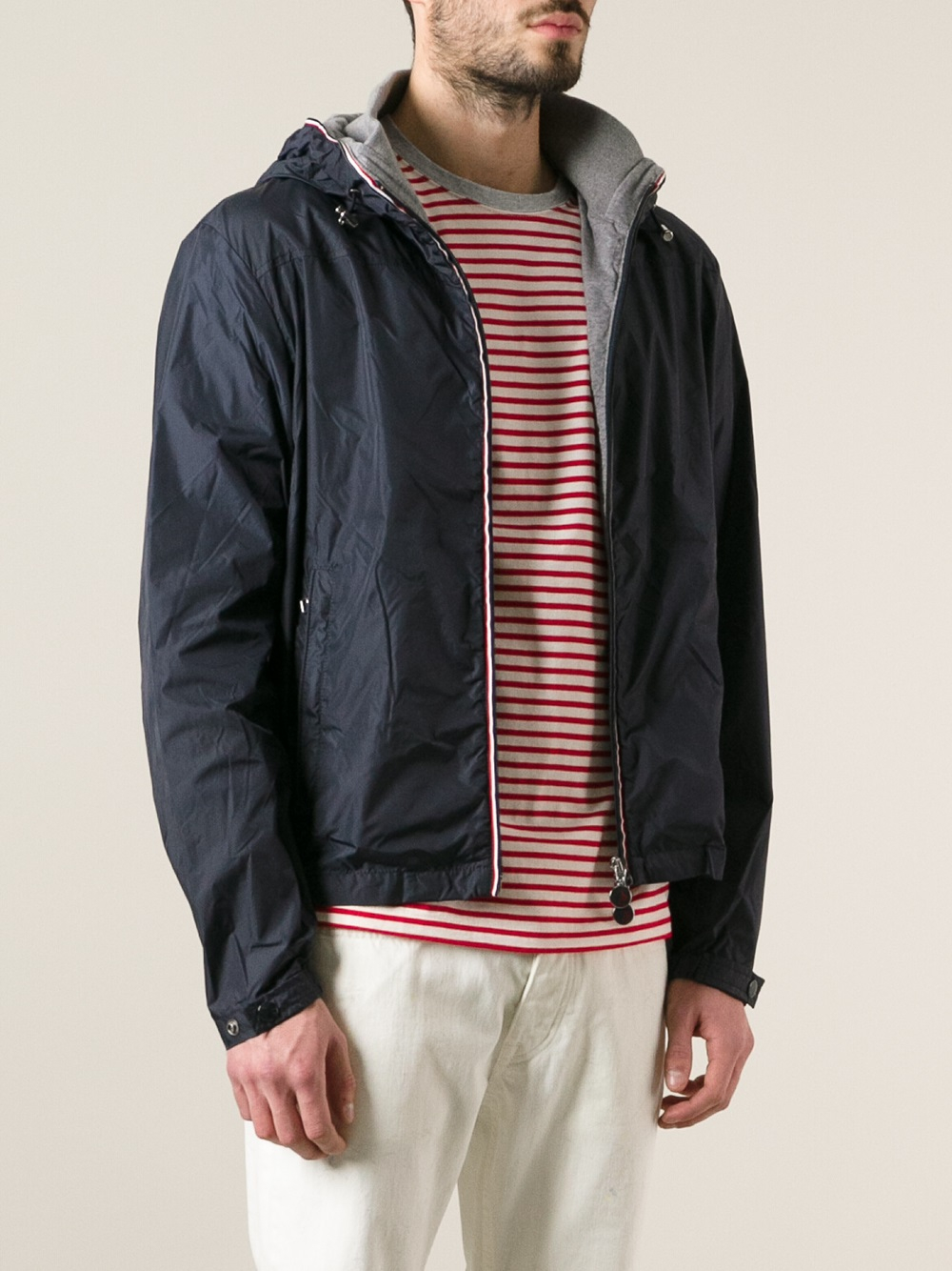 moncler urville jacket in blue for men lyst. Black Bedroom Furniture Sets. Home Design Ideas