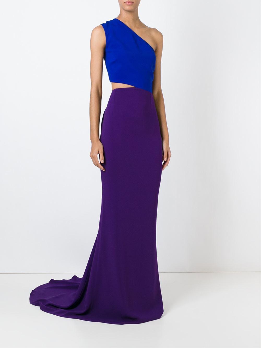 Lyst - Stella Mccartney One Shoulder Evening Gown in Blue