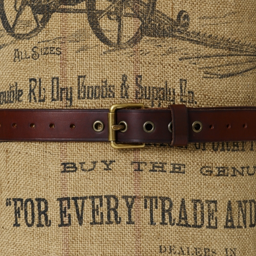 rrl ironworker leather belt in brown for lyst