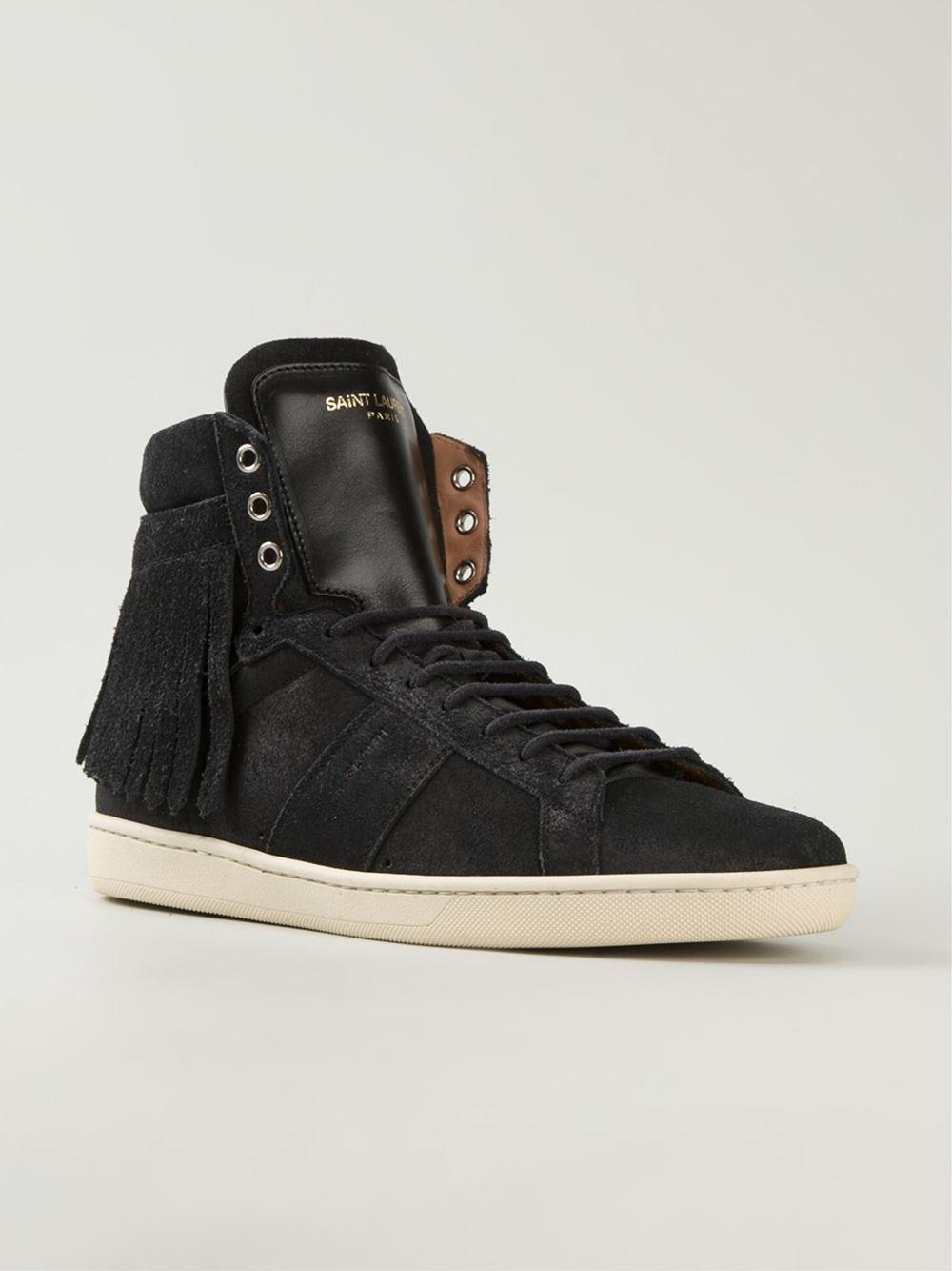 saint laurent 39 court classic 39 sneakers in black for men lyst. Black Bedroom Furniture Sets. Home Design Ideas