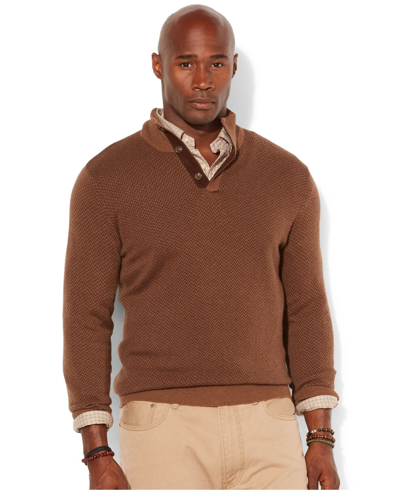 Lyst polo ralph lauren big and tall loryelle wool blend for Big and tall mock turtleneck shirt