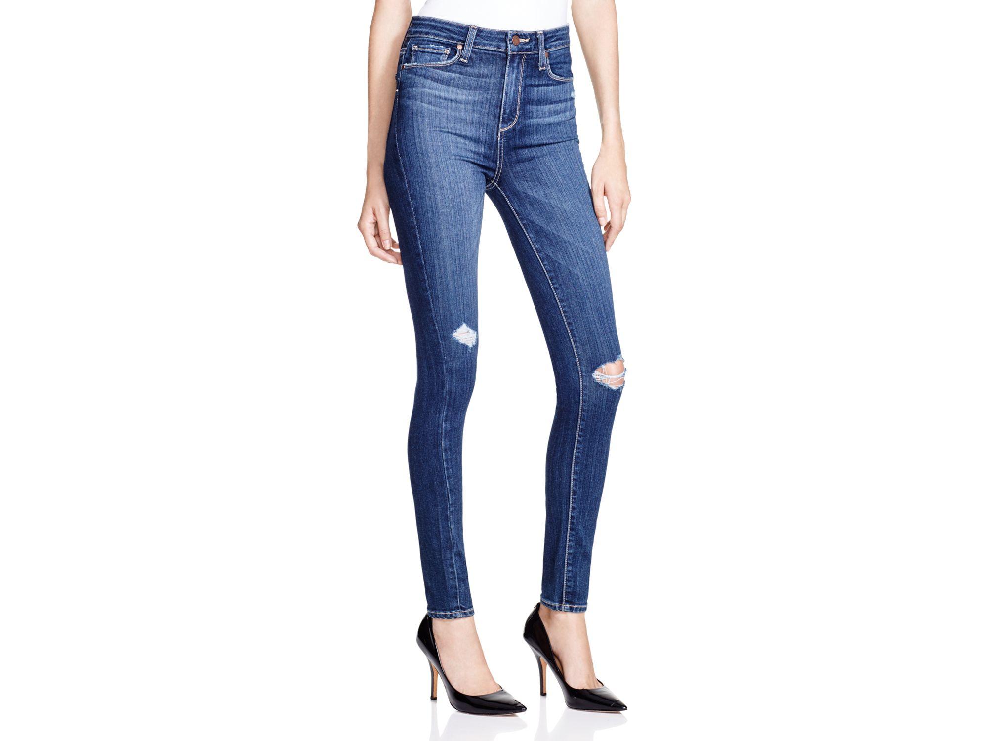 PAIGE Denim Margot Jeans In Elia Destroyed in Blue