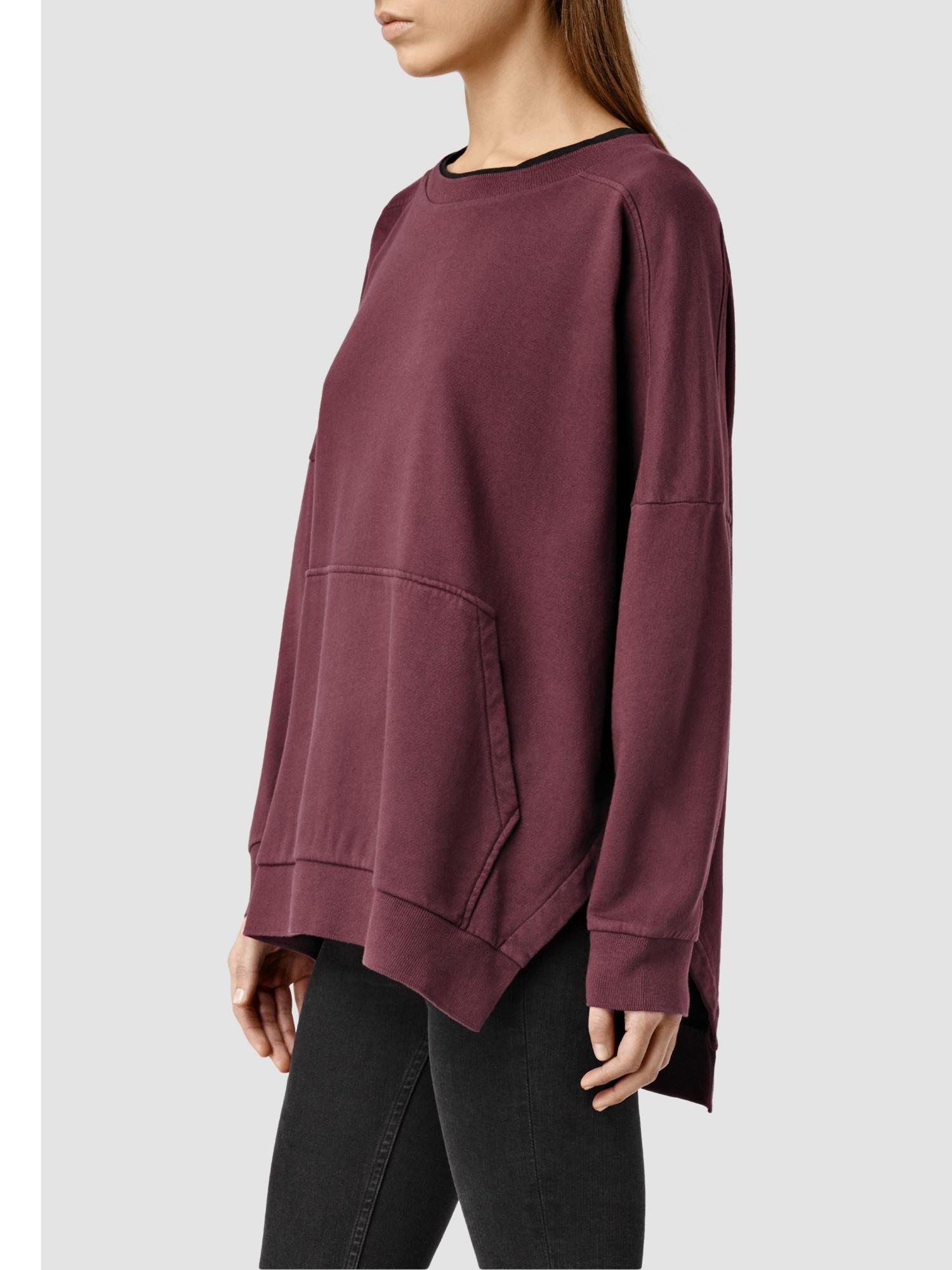 AllSaints Emmy Sweatshirt in Red