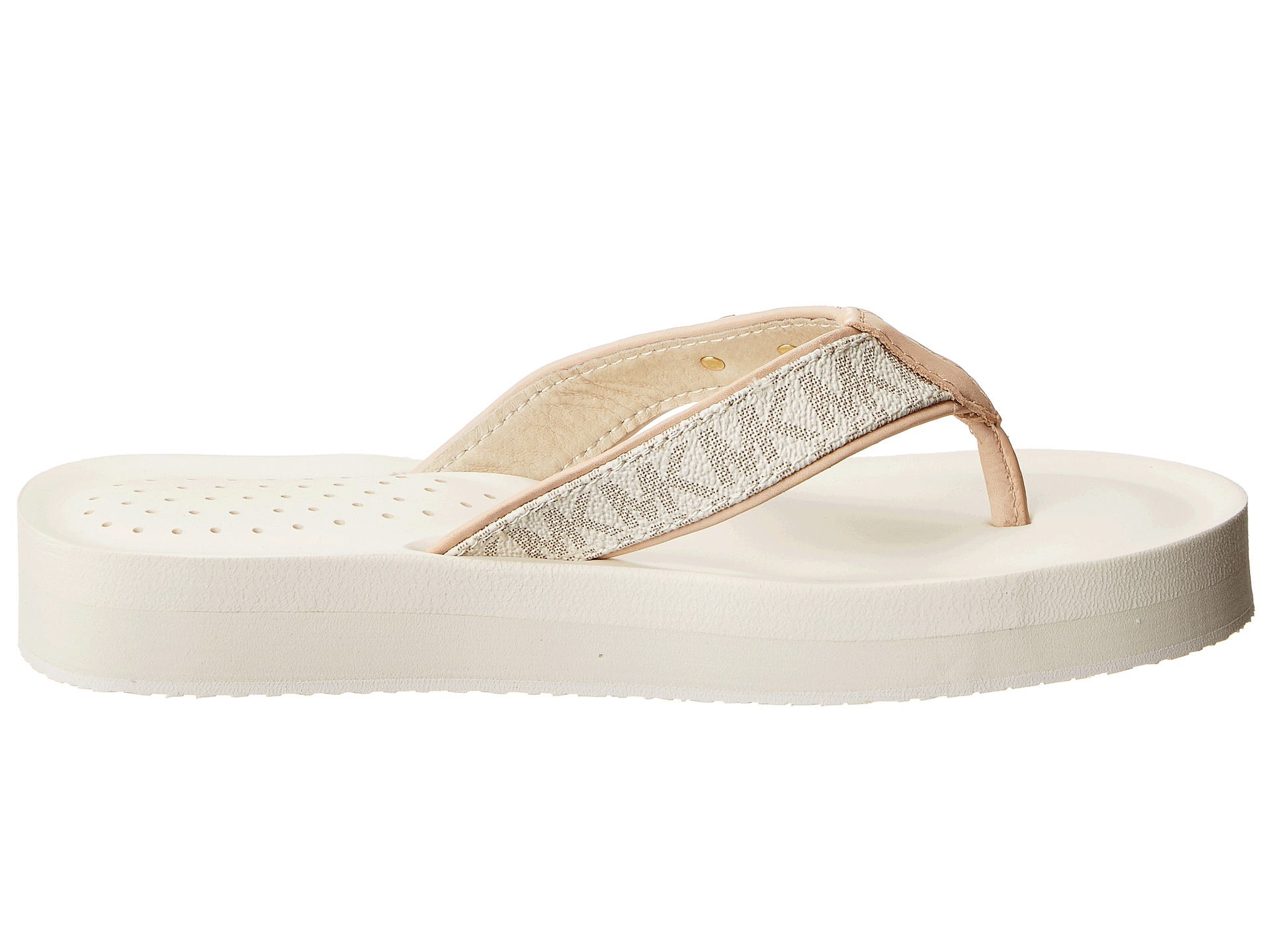 46bf232c3 Lyst - MICHAEL Michael Kors Gage Flip Flop in White