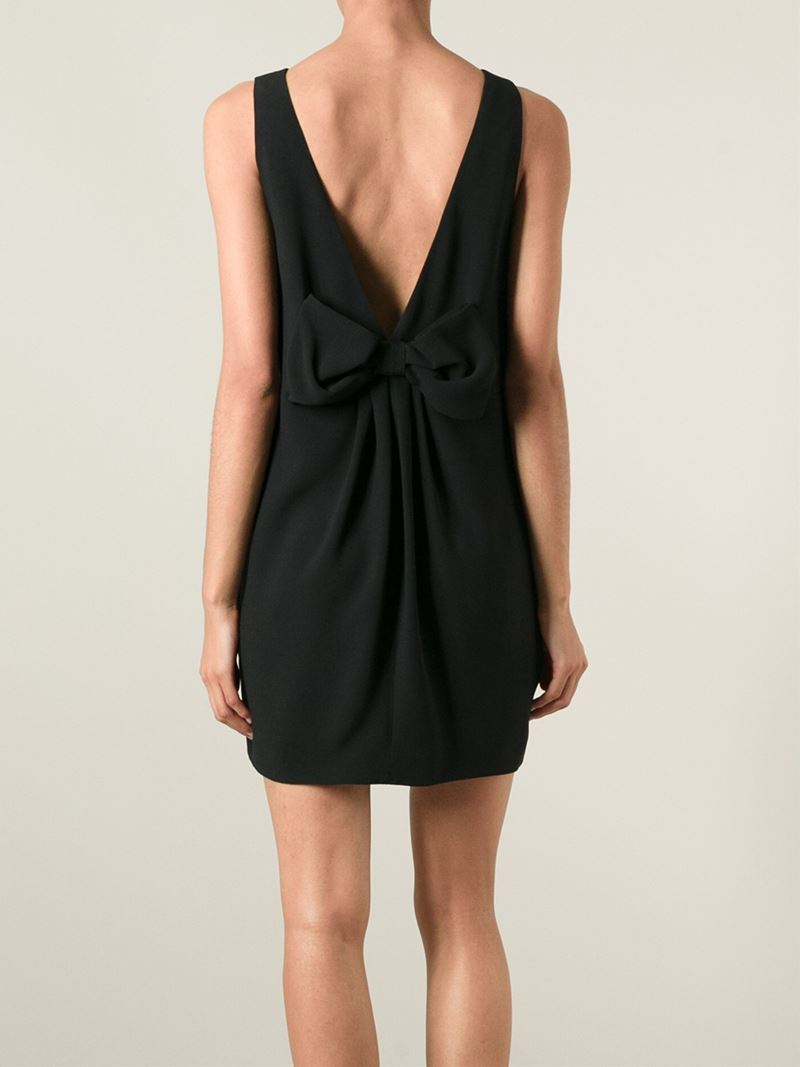lyst red valentino back bow dress in black
