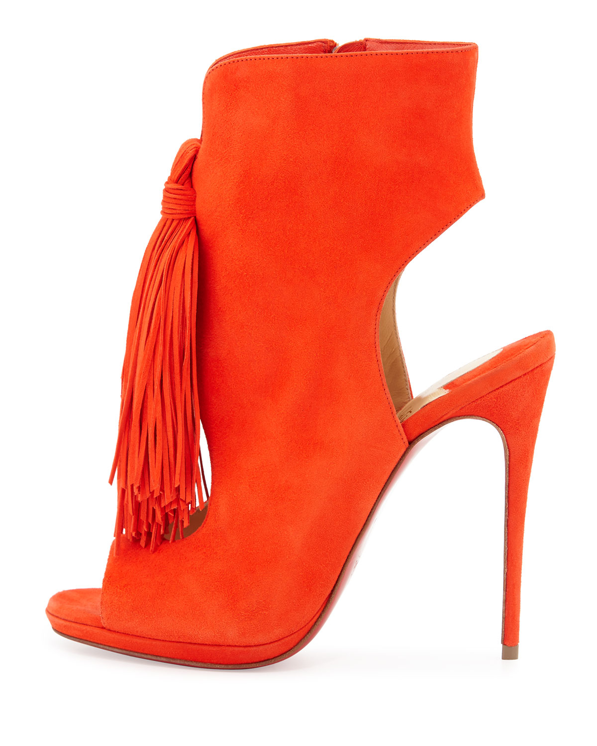 knock off christian louboutin - Christian louboutin Ottaka Suede Fringed Sandals in Orange ...