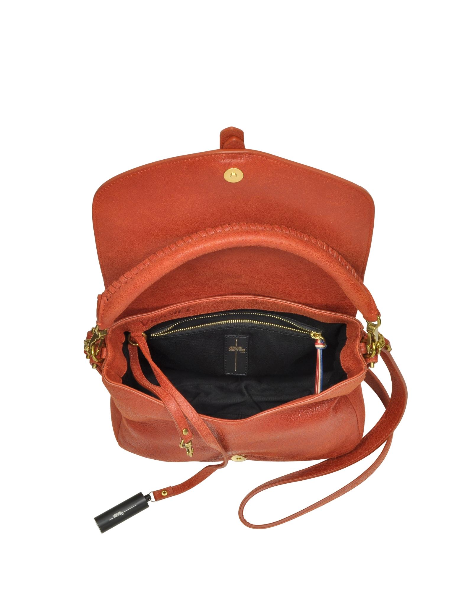 J 233 R 244 Me Dreyfuss Virgile Rust Leather Shoulder Bag In Brown