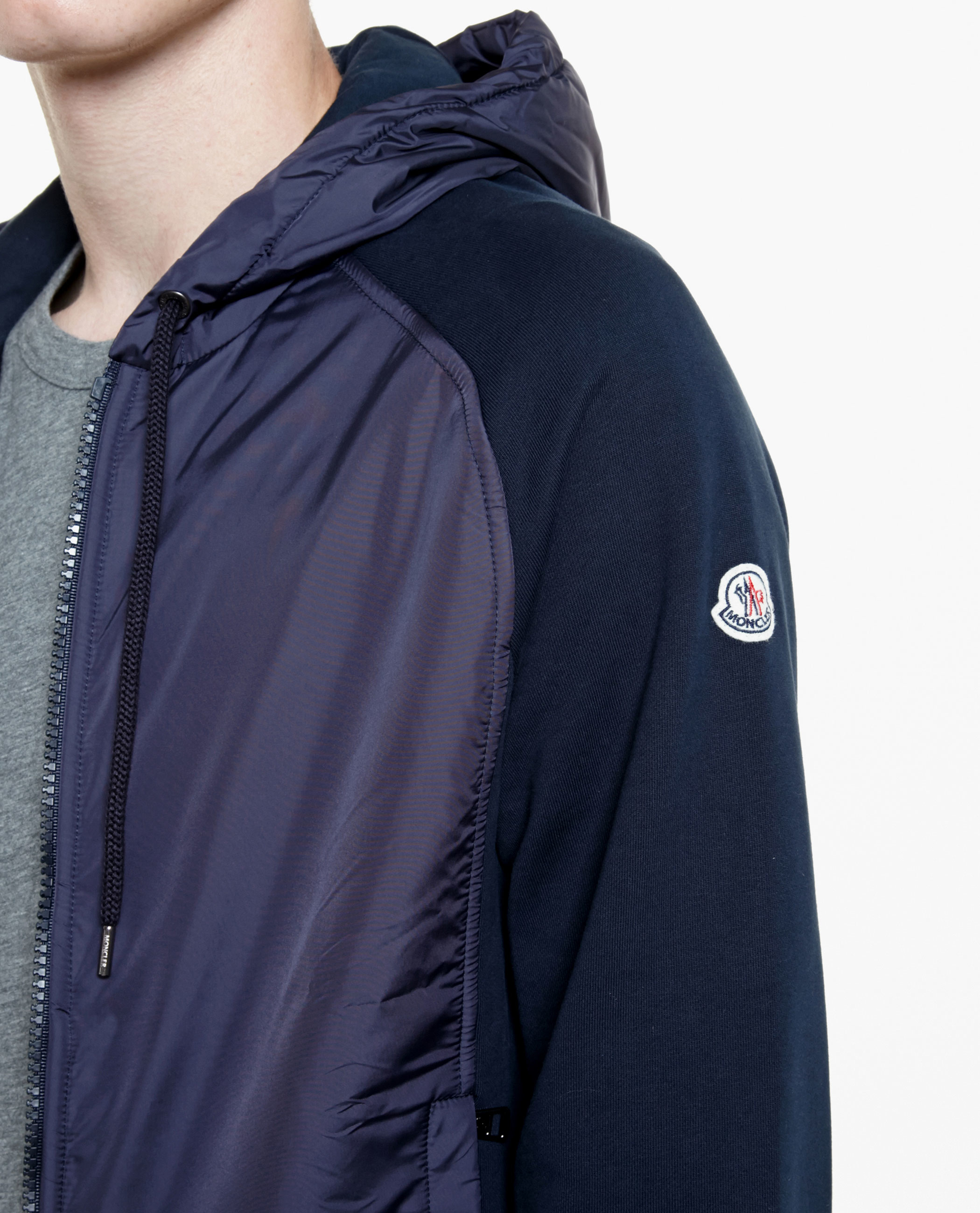 Lyst - Moncler Maglia Hooded Jacket in Blue for Men a6b5a7165