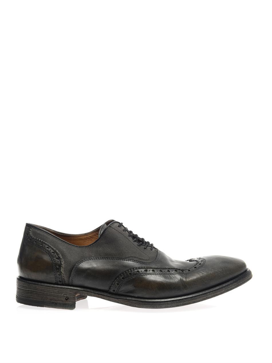 John Varvatos Fleetwood Leather Oxford Shoes in Black for Men