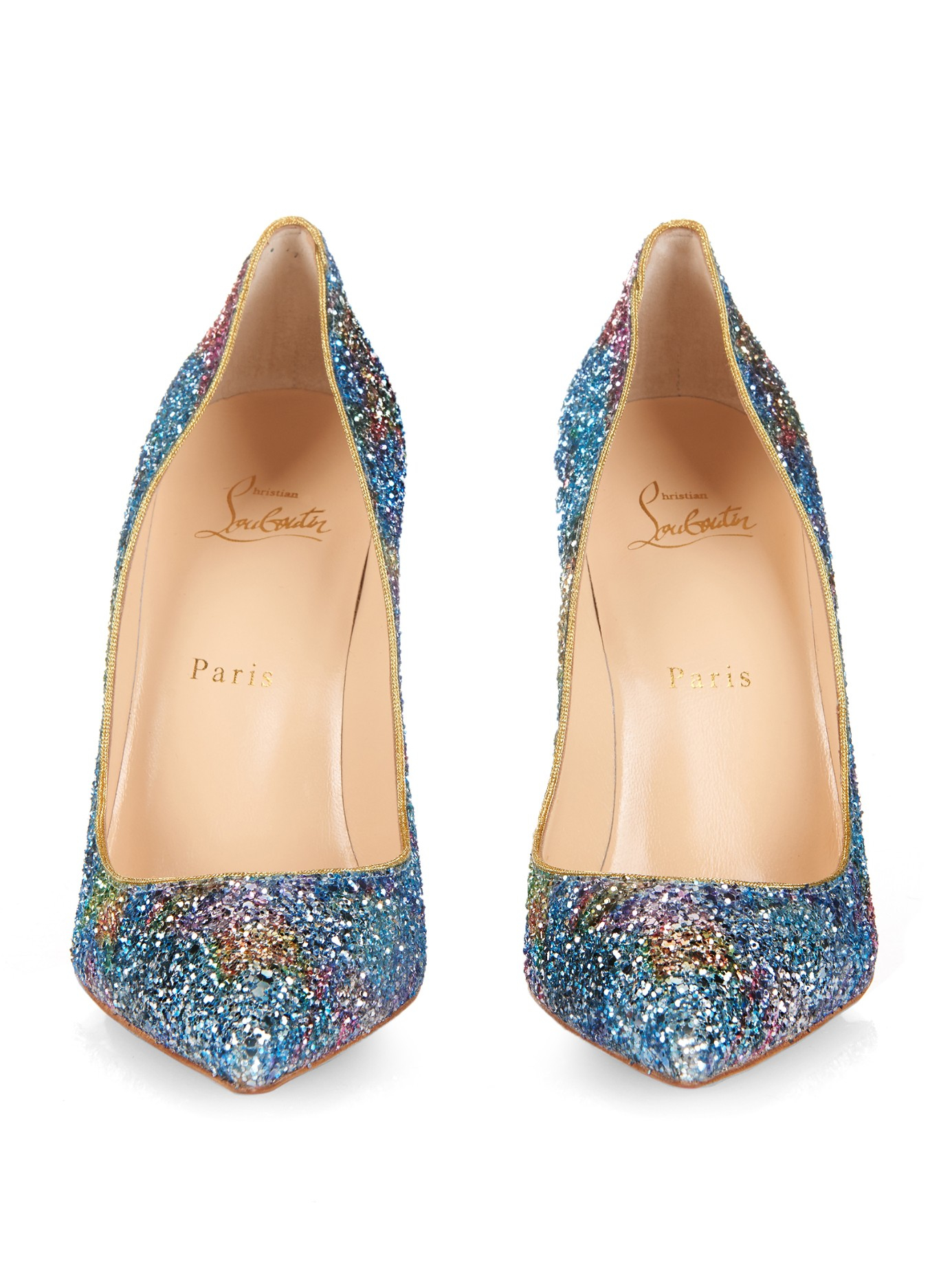 72f3d58ee029 Lyst - Christian Louboutin Pigalle Follies 100mm Pumps in Blue