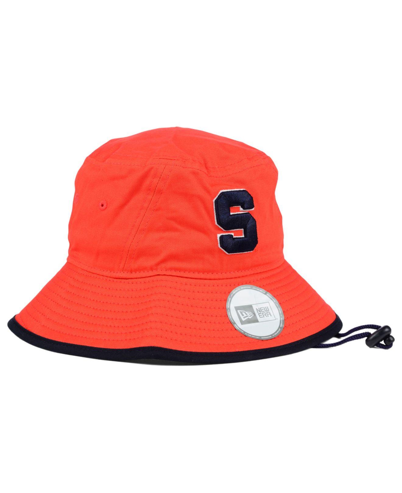 buy online 3503f 77c3e spain lyst ktz syracuse orange tip bucket hat in orange for men e0c7b 561fb
