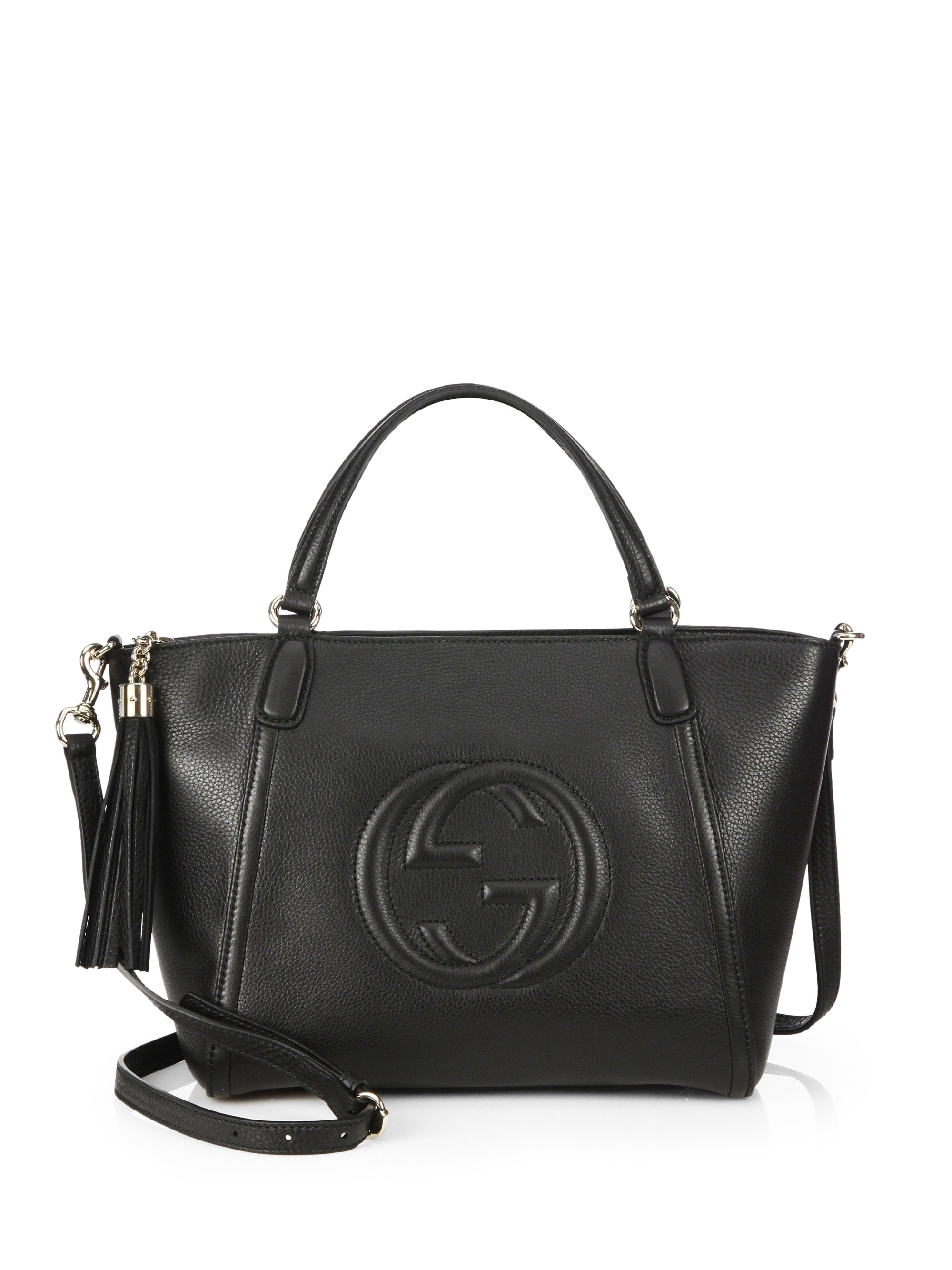 ee439bdf74cae8 Gucci Soho Leather Top Handle Bag Black | Stanford Center for ...