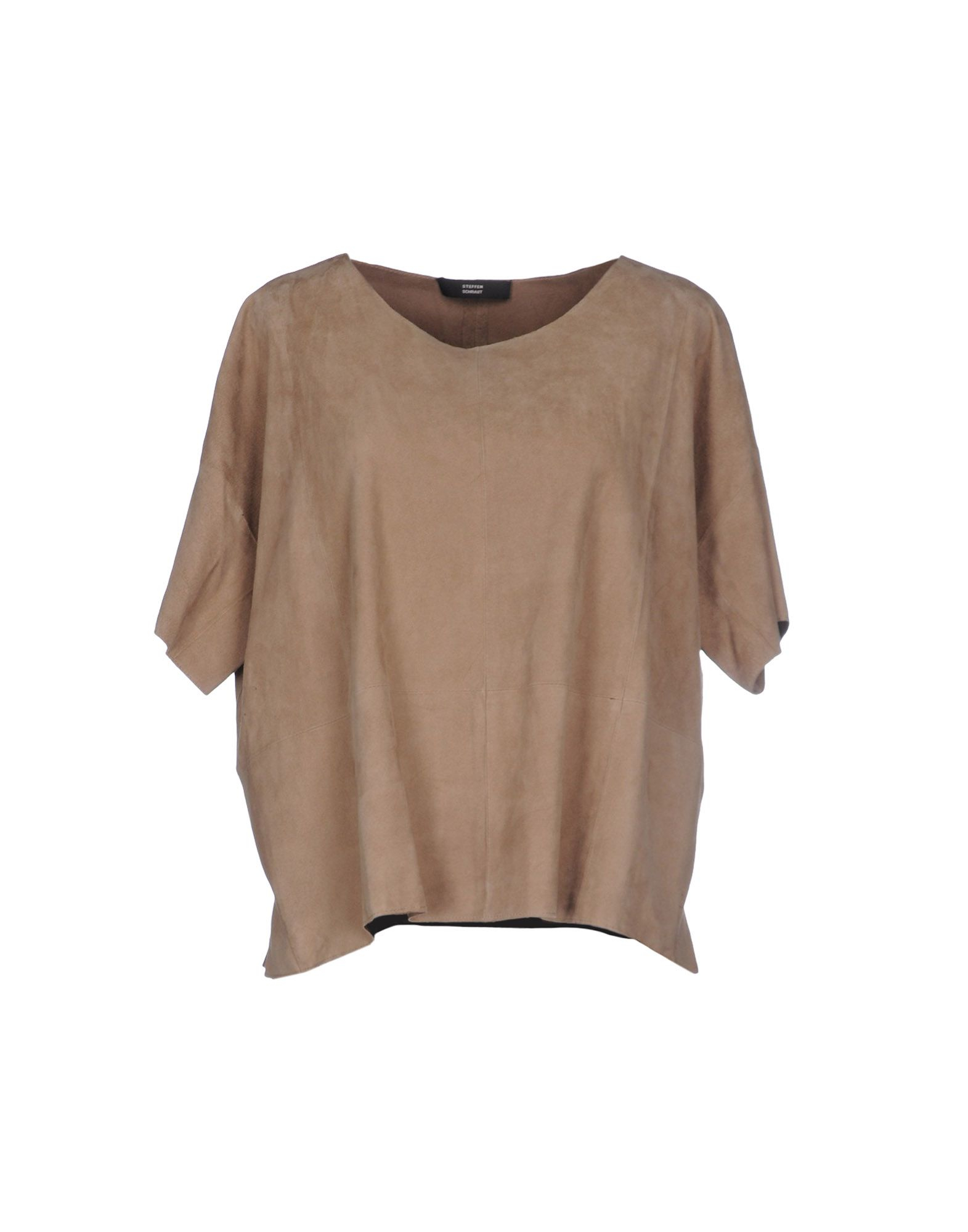 steffen schraut blouse in beige camel lyst. Black Bedroom Furniture Sets. Home Design Ideas