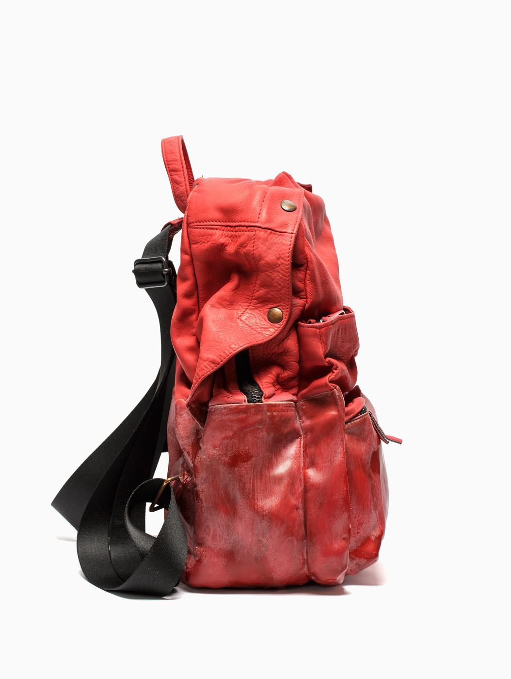 b07fa0d8bfc0 Lyst - Oxs Rubber Soul Leather Backpack in Red for Men