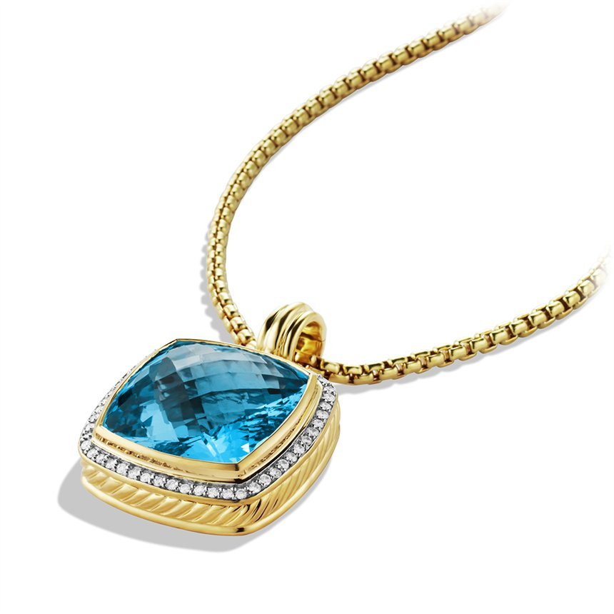 Lyst David Yurman Albion Pendant With Blue Topaz And