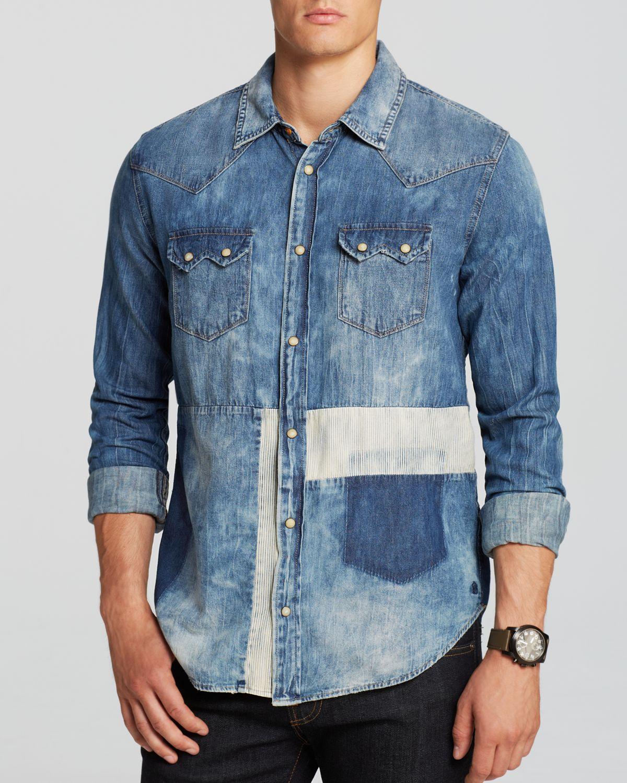 Scotch soda sawtooth denim button down shirt slim fit for Denim button down shirts