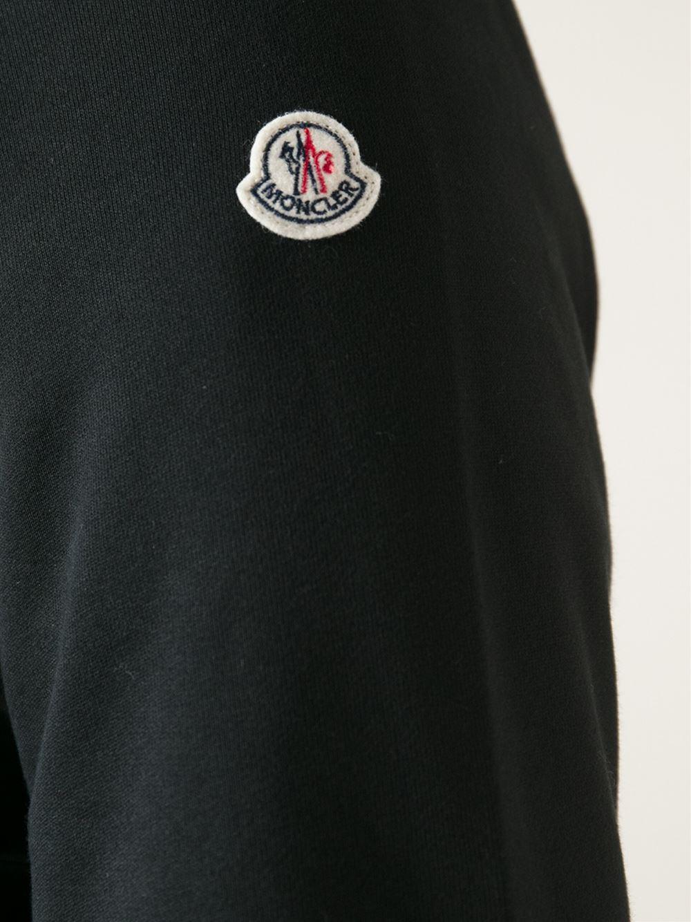mens black moncler hoodie