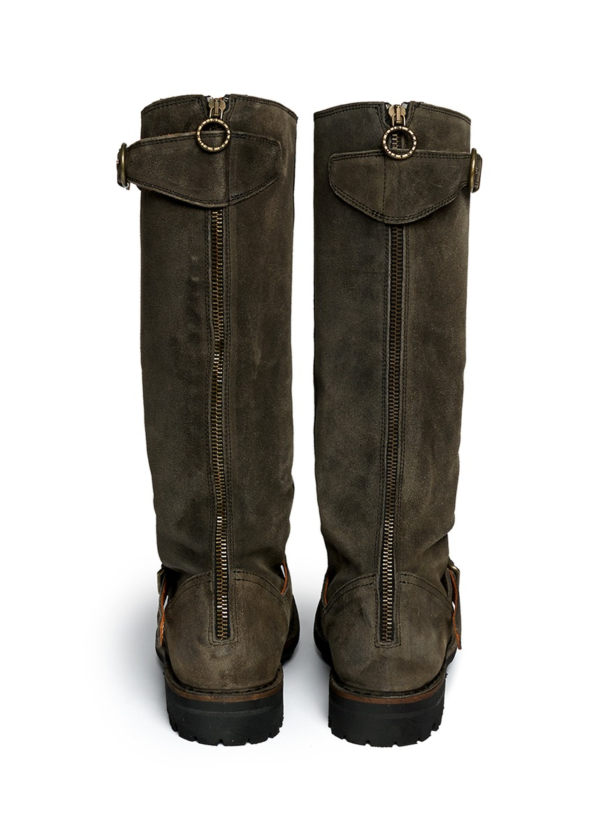 Fiorentini + Baker 'jade' Eternity Suede Buckle Boots in Grey (Grey)