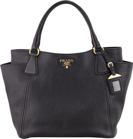 prada book bag - prada daino side-zip twin pocket tote