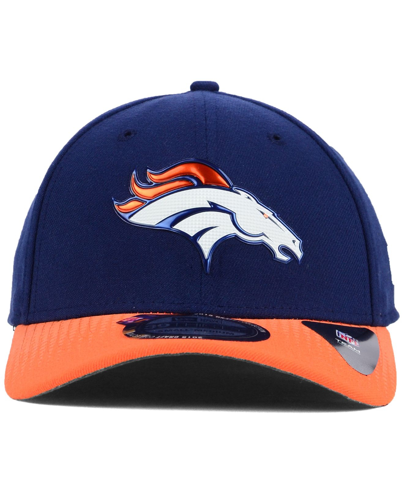 ... lyst ktz denver broncos 2015 nfl draft 39thirty cap in blue for men 2c814f906