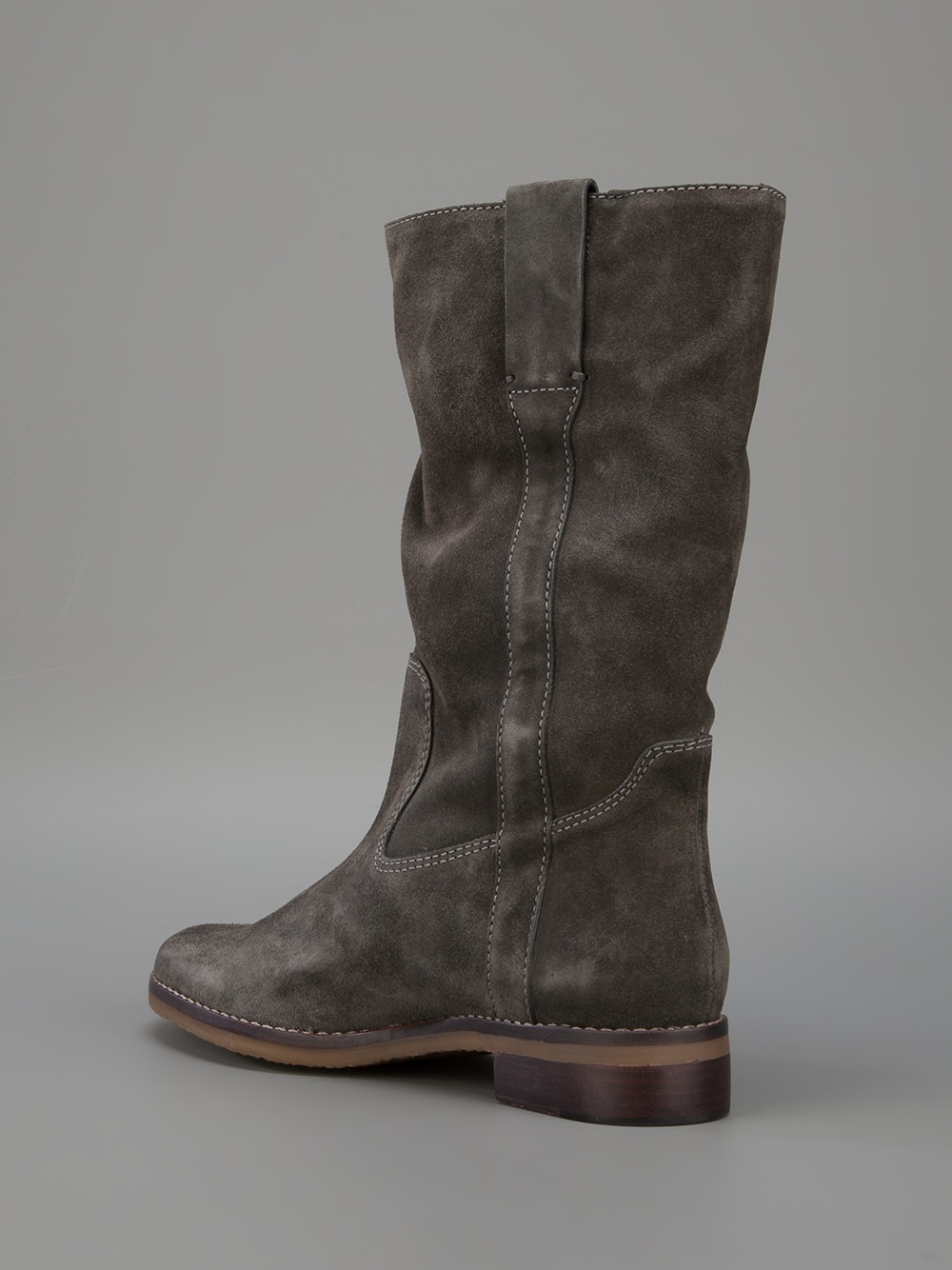 tila march suede boot in gray lyst