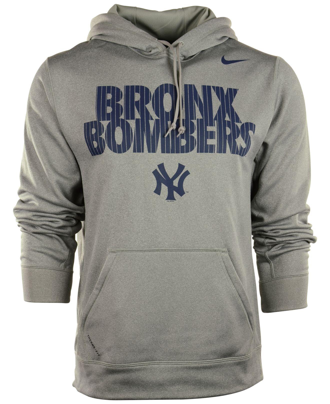 san francisco c6cea 514ee Nike Blue Men'S New York Yankees Bronx Bombers Hoodie for men