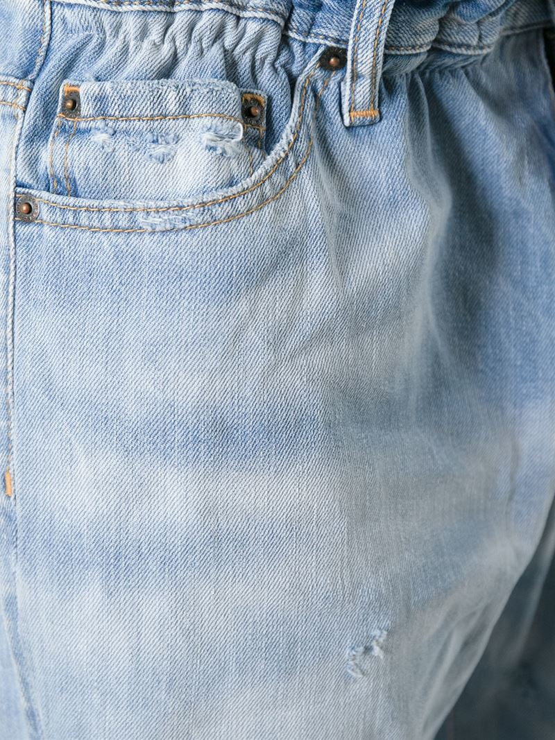 DSquared² Cropped Loose Fit Jeans in Blue for Men