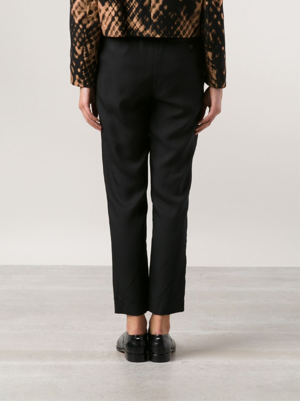 3.1 phillip lim Draped Trousers in Black | Lyst