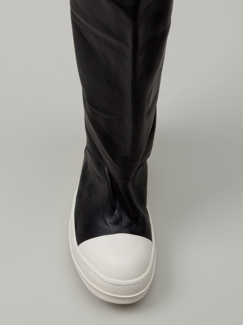 Rick Owens Knee High Sneaker Boots in