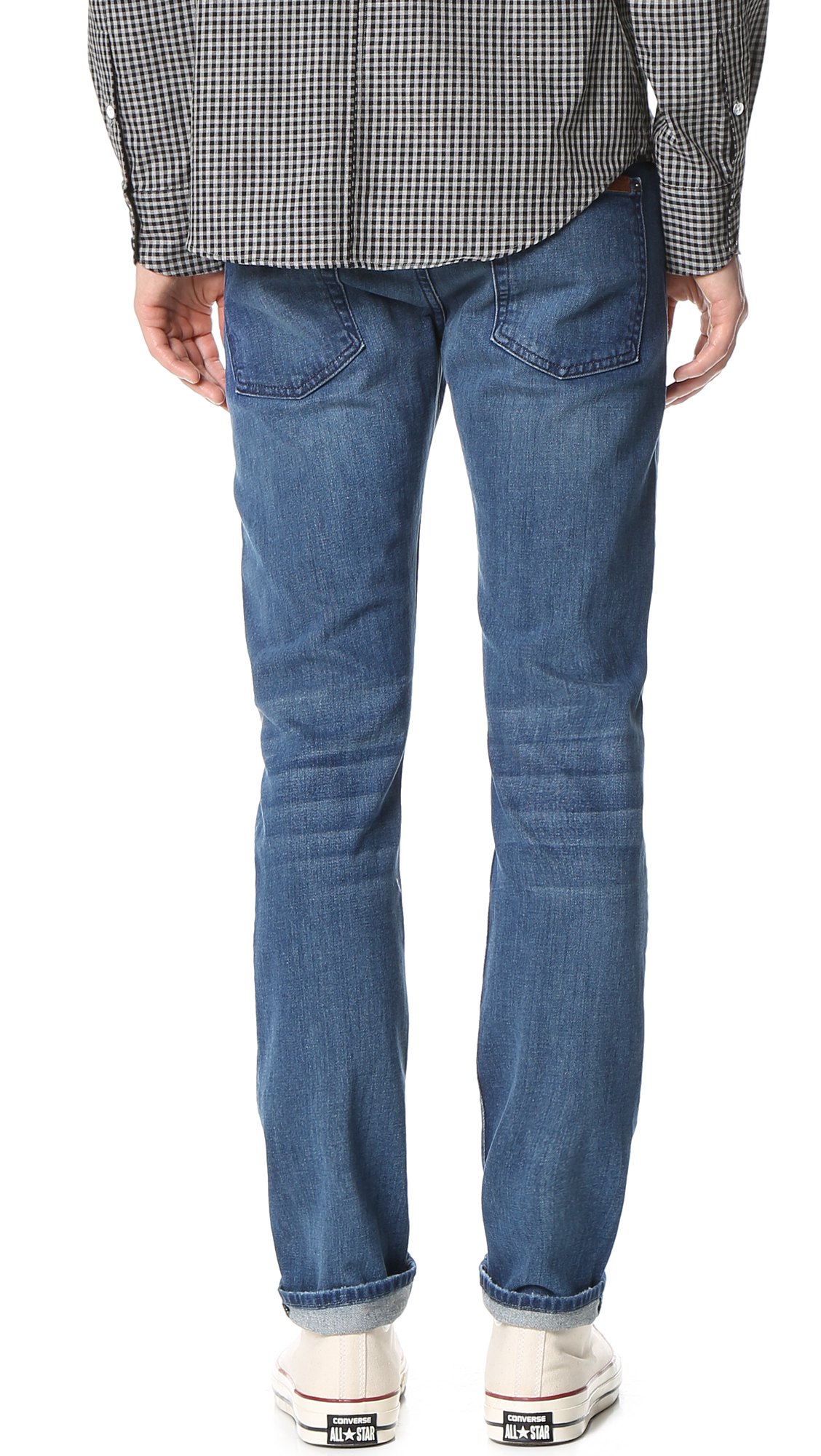 7 for all mankind paxtyn tapered jeans in blue for men lyst. Black Bedroom Furniture Sets. Home Design Ideas