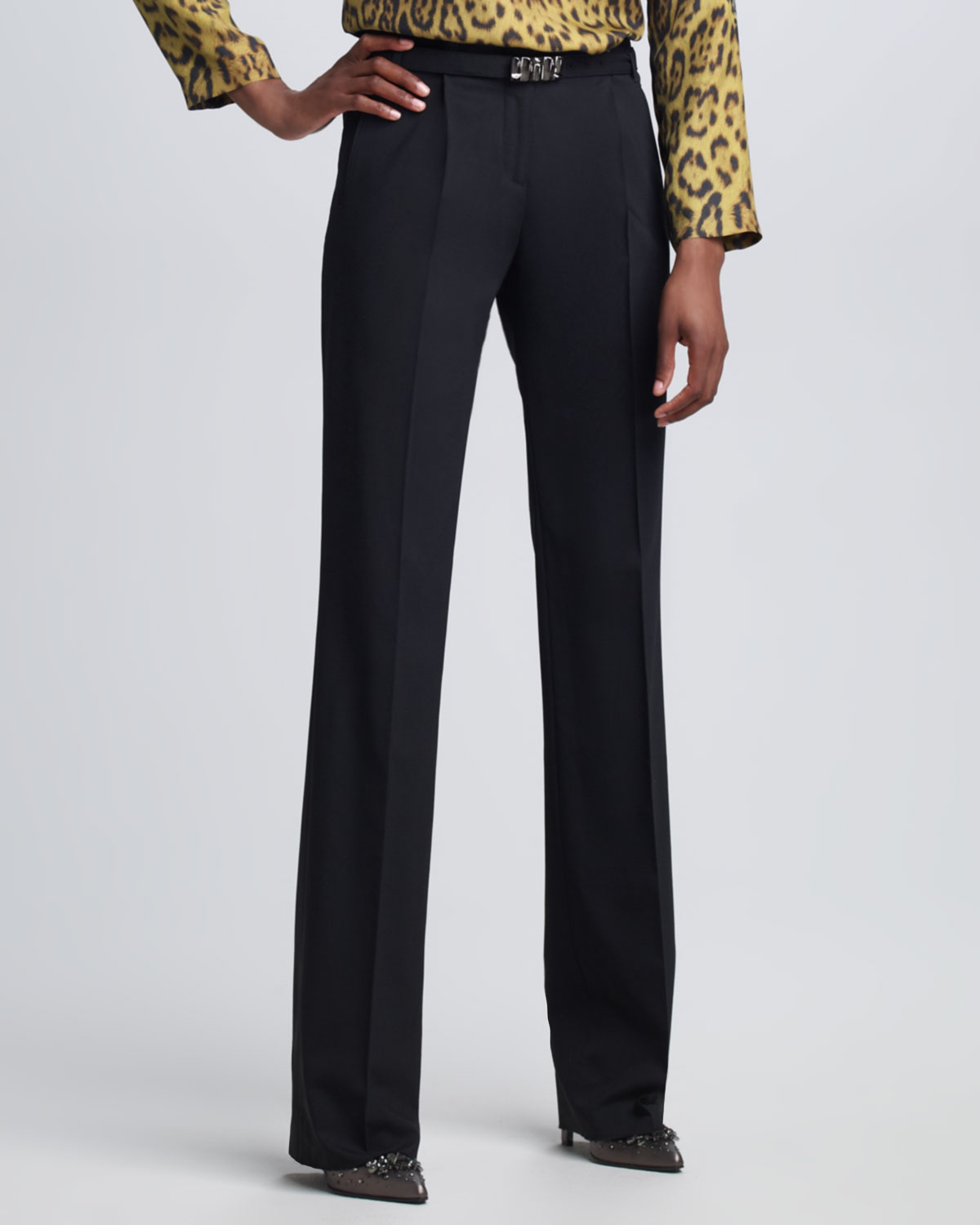 Lyst Roberto Cavalli Womens Pleated Front Pants In Black