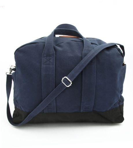 Sandqvist Aki Navy Blue Weekend Bag in Blue for Men (navy)