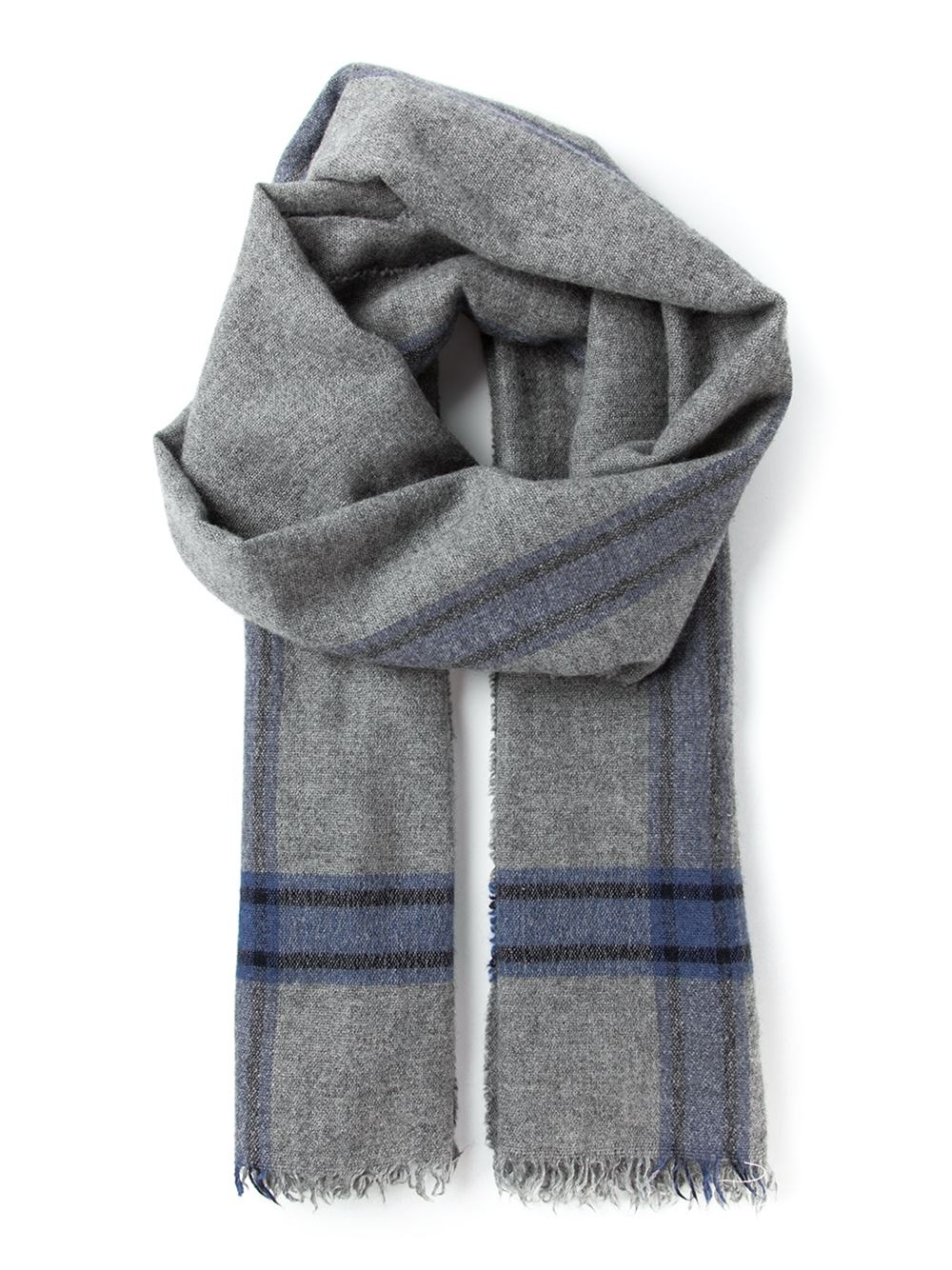 brunello cucinelli woven scarf in gray for grey