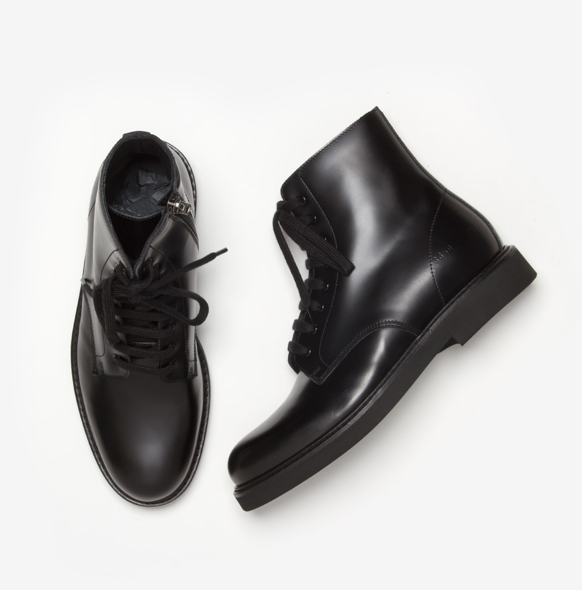 99a03a4cd2a7 Lyst - Common Projects Combat Boots in Black