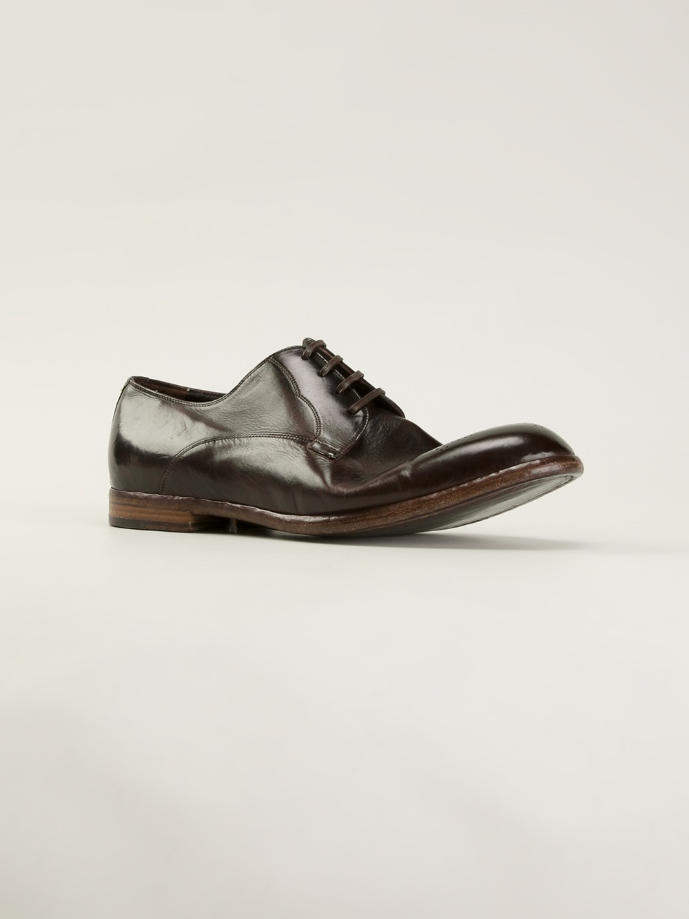 dolce gabbana derby shoes in brown for lyst
