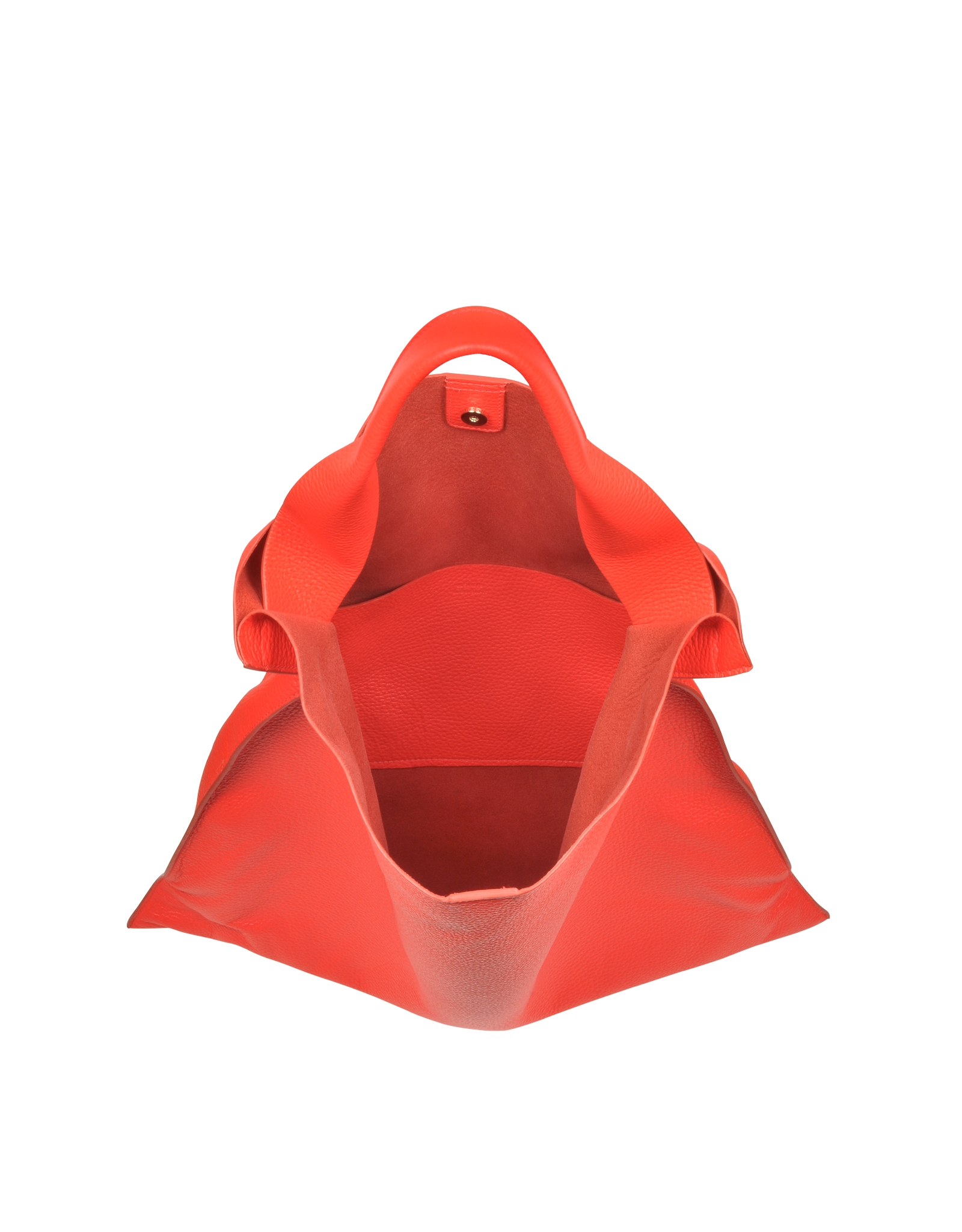 jil sander bright orange leather xiao bag in orange lyst