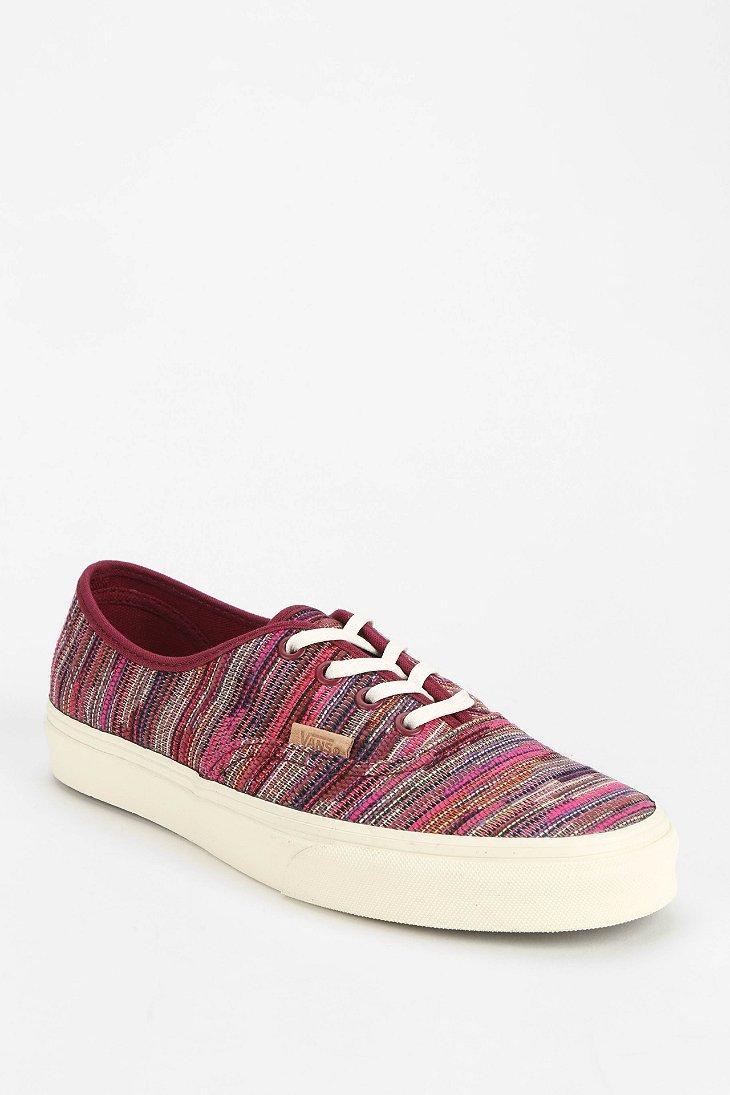 ba5748bdc1 Lyst - Vans Authentic Woven Womens Lowtop Sneaker